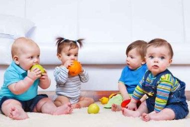 Four toddlers