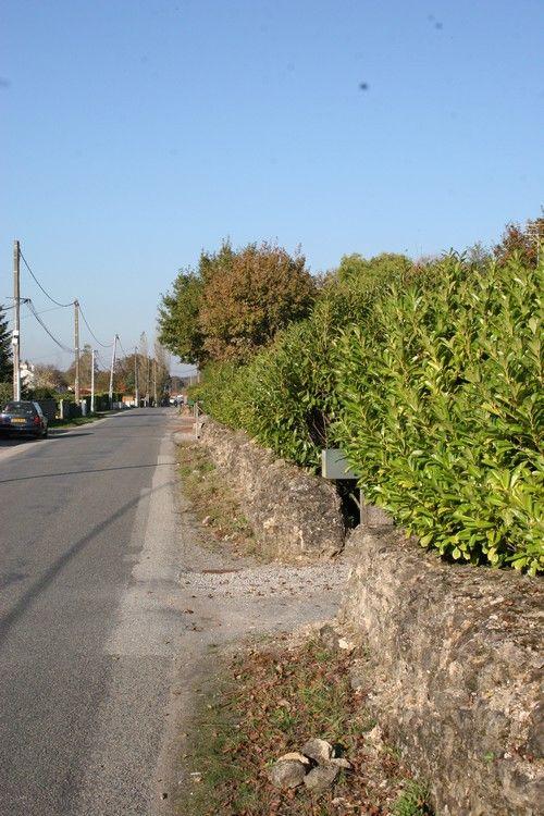Vue du mur bahut à La Poitevinière (Cliché M. Monteil, 2010)